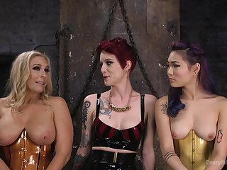 Watch these matured girls with Angel Allwood as they do anal sex