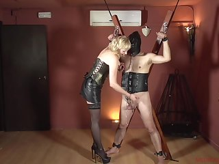 Femdom with a of age who wants connected with hurt her male slave