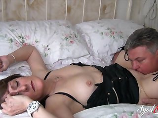 Chubby mature slut Pandora gets fucked doggy with an increment of she loves jerking cock