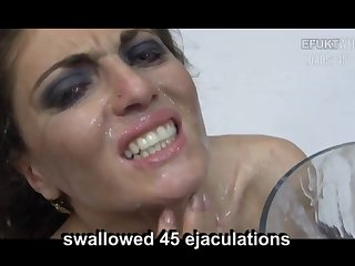 Lusty amateur bukkake compilation with totally sexy turned on whores