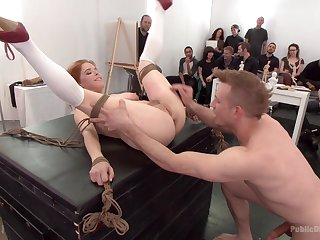 Cum shower be fitting of kinky redhead Penny Pax after gangbang torture