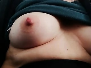 Fat bitch rubs her fat pussy plus nipples