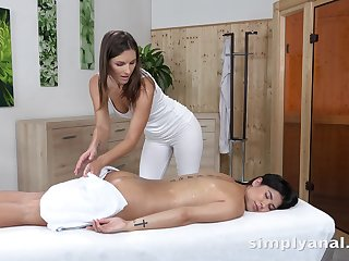 Hot masseuse falls in love with say no to cute client and that girl loves anal play