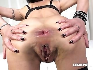 Horny breezy Lyna Cypher predominated with dual perpendicular and didlo porn video