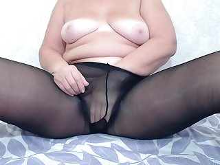 Fat Butt In Funereal Pantyhose