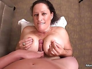 Big-boobed wifey record lose wood and gives viewpoint breast banging in her very first porno sequence best porn