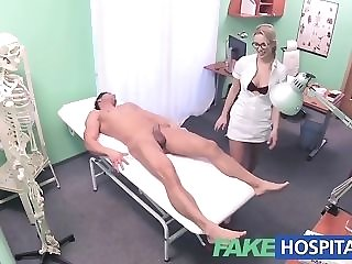 Towheaded nurse gives a faux salubriousness center patient a gorgeous approach pornvideo