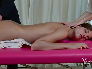 Lecherous rub down on webcam