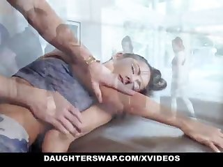 DaughterSwap - Super-Cute Puny Teenage Gets Boinked By Gymnast Daddy