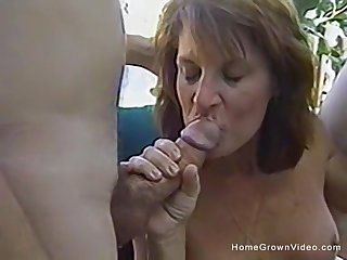 Vintage amateur orgy with two couples in the personal space horse-racing