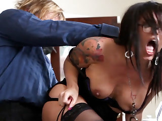 Naughty office ass-istant fucks her mature Mr Big brass