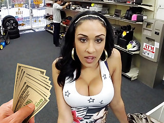 Young latina cooky bonking for money